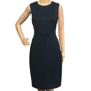 CALVIN KLEIN Solid Scuba Sheath Dress Navy Blue 8